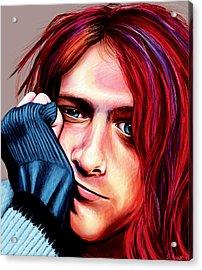 Acrylic Print featuring the painting Kurt Cobain by Shawna Rowe
