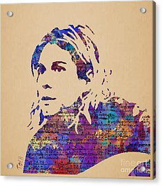 Kurt Cobain Watercolor Acrylic Print