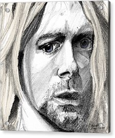Acrylic Print featuring the drawing Kurt by Michele Engling