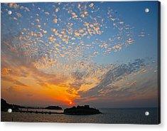 Kusadasi Sunset Acrylic Print by Eric Tressler