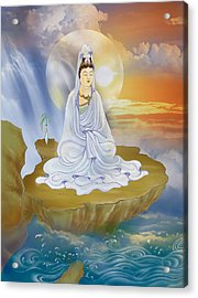 Acrylic Print featuring the photograph Kwan Yin - Goddess Of Compassion by Lanjee Chee