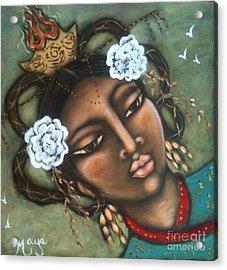 Kwan Yin Acrylic Print by Maya Telford