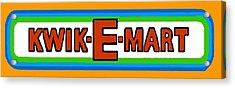 Kwik-e-mart Sign Acrylic Print by Paul Van Scott