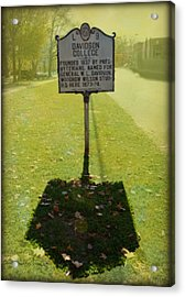 L 9 Davidson College Historical Marker Acrylic Print by Paulette B Wright