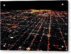 L A Skyscape At Night Acrylic Print