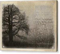 L Arbre De Vie - 33d02 Acrylic Print by Variance Collections