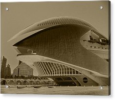 Acrylic Print featuring the photograph L' Hemisferic - Valencia by Juergen Weiss