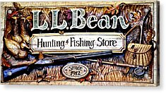 L. L. Bean Hunting And Fishing Store Since 1912 Acrylic Print by Tara Potts