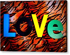 L O V E Acrylic Print by The Creative Minds Art and Photography
