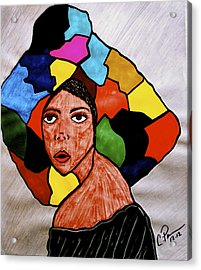 La Artista Acrylic Print by Chrissy  Pena