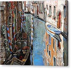 La Barca Al Sole Acrylic Print by Guido Borelli