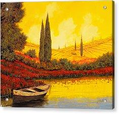 La Barca Al Tramonto Acrylic Print by Guido Borelli
