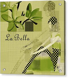La Bella - Green 01-03 Acrylic Print by Variance Collections