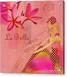 La Bella - Pink - 064152173-01 Acrylic Print by Variance Collections