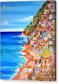 La Bella Positano Amalfi Coast Acrylic Print
