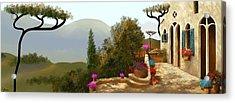 La Bella Terrazza Acrylic Print by Larry Cirigliano