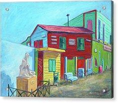 La Boca Morning I Acrylic Print by Xueling Zou