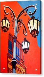 La Boca Street Lamps #21 Acrylic Print