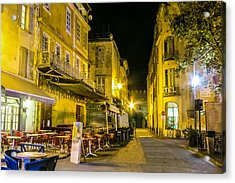 La Cafe Nuit Acrylic Print by Cathy Anderson
