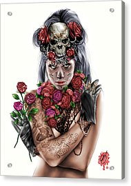 La Calavera Catrina Acrylic Print by Pete Tapang