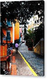 La Calle Acrylic Print by Simone Hester