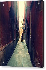 Acrylic Print featuring the photograph La Cameriera  by Micki Findlay