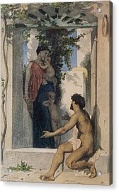 La Charite Romaine Acrylic Print by William Bouguereau