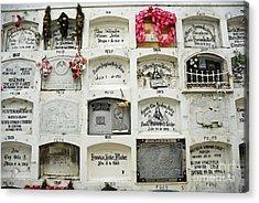 La Ciudad Blanca Cemetery Acrylic Print by Sami Sarkis