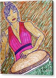 La Congera Acrylic Print by Chrissy  Pena