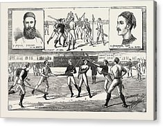 La Crosse Match, Played Last Saturday At Kennington Oval Acrylic Print by English School