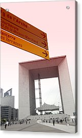 La Defense Paris Acrylic Print