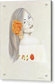 La Diva Acrylic Print by Lorena Rivera