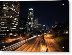 Acrylic Print featuring the photograph La Down Town by Gandz Photography