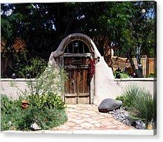 La Entrada A La Casa Vieja De Mesilla Acrylic Print by Kurt Van Wagner