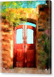 The Scarlet Entrance Acrylic Print by Colleen Taylor