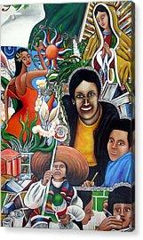 La Familia Acrylic Print by Randy Segura