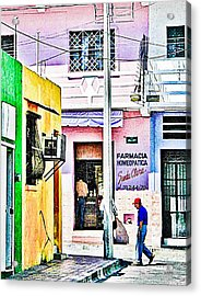 Acrylic Print featuring the photograph La Farmacia by Jim Thompson