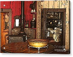 La Ferme Restaurant In Genoa Nevada Acrylic Print by Artist and Photographer Laura Wrede