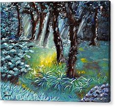 La Foret Enchantee Acrylic Print by Thierry Vobmann