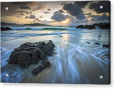 Acrylic Print featuring the photograph La Fragata Beach Galicia Spain by Pablo Avanzini