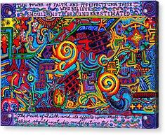 La Fuerza De La Fe Acrylic Print