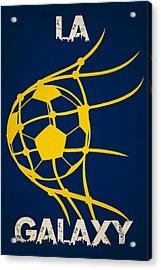 La Galaxy Goal Acrylic Print by Joe Hamilton