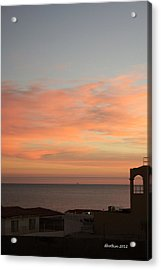 Acrylic Print featuring the photograph La Hacienda Sunrise by Dick Botkin