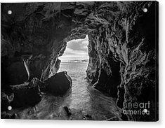 La Jolla Cave Bw Acrylic Print