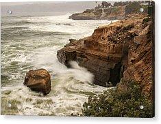 Acrylic Print featuring the photograph La Jolla Cove 1 by Lee Kirchhevel