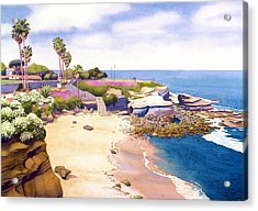 La Jolla Cove Acrylic Print by Mary Helmreich