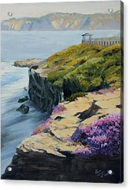 La Jolla Cove Acrylic Print by Sandy Fisher