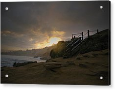 Acrylic Print featuring the photograph La Jolla Cove Sunrise by Jeremy McKay