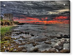 Acrylic Print featuring the photograph La Jolla Cove Sunset by Nathan Rupert