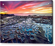 Acrylic Print featuring the photograph La Jolla Potholes by Robert  Aycock